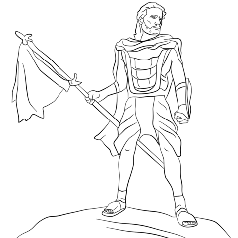 Captain Moroni coloring page.