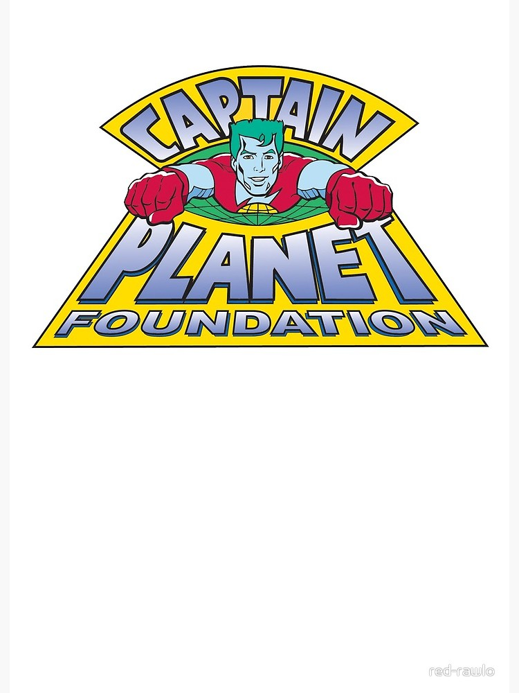 \'Captain Planet Logo\' Art Board Print by red.