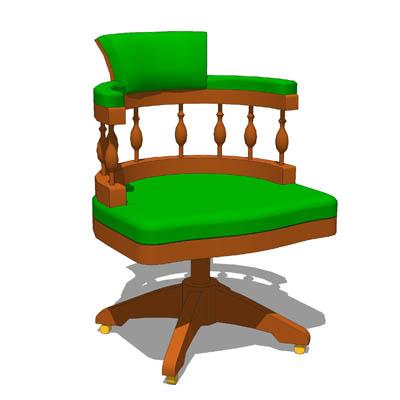 captain's chair 3D Model.
