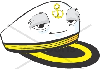 Creative SHIP CAPTAIN HAT Illustration with eyes.