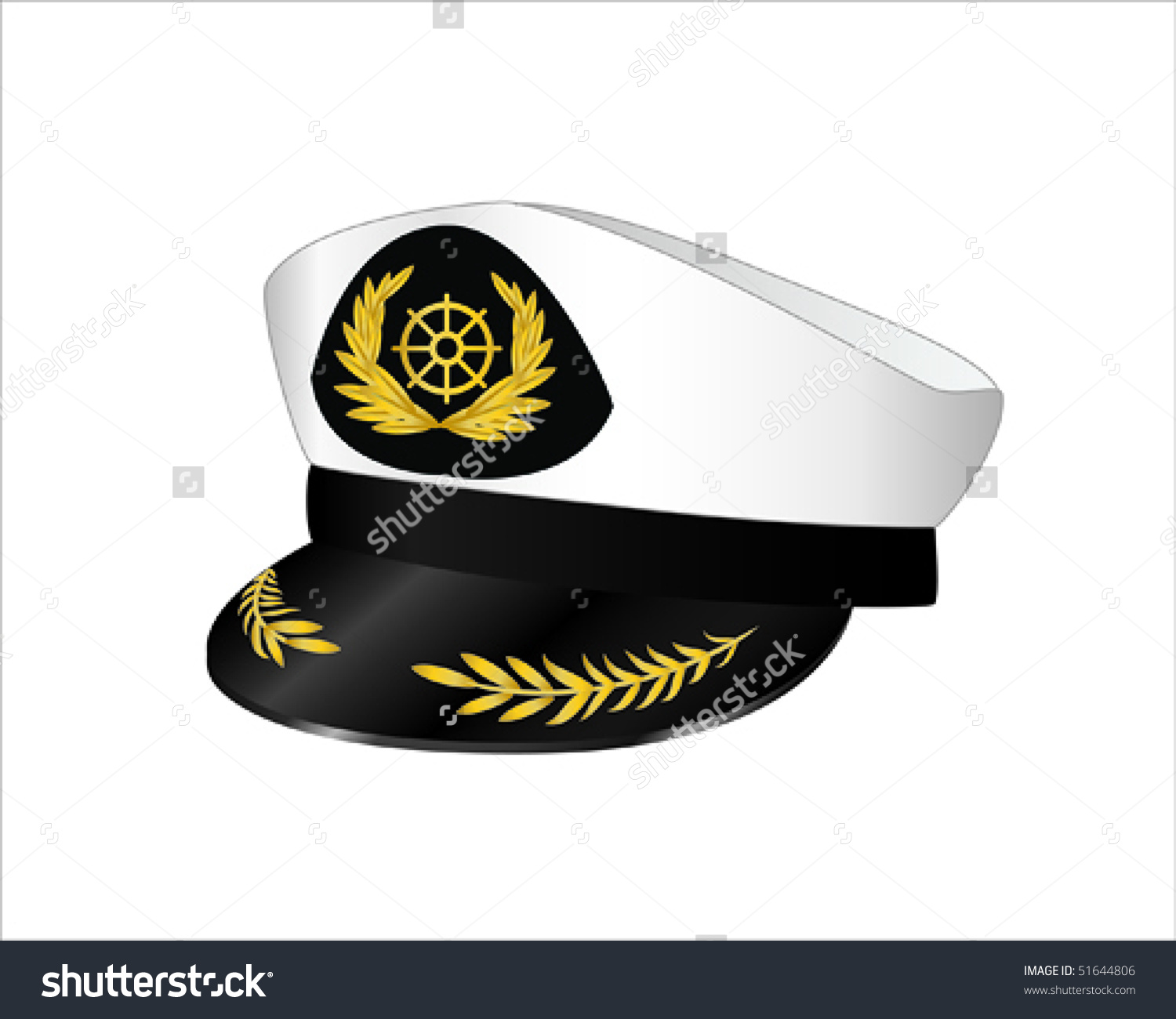 Vector Illustration Captains Hat Stock Vector 51644806.