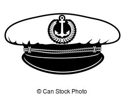 Captain hat clipart.