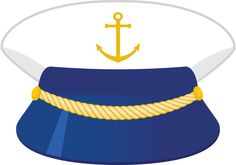 Boat captain hat clipart.