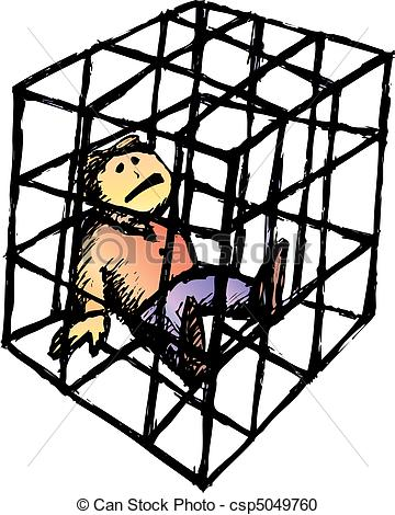 Vector Clipart of Cage.