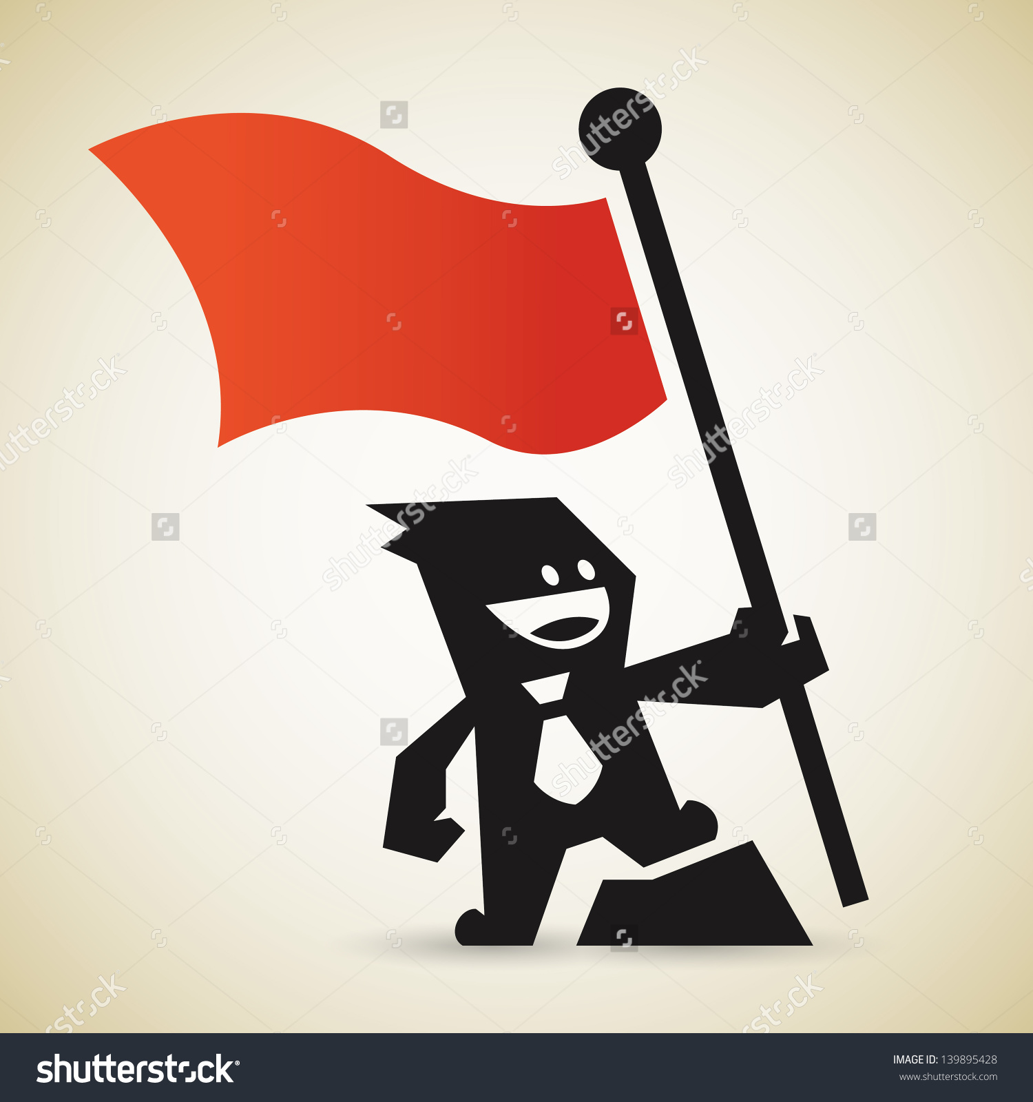 Capture Flag Stock Vector 139895428.
