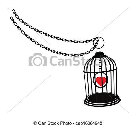 EPS Vector of prisoner of love.