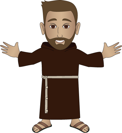 Franciscan friars clip art.