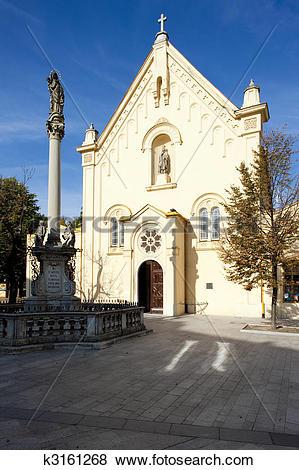 Pictures of Capuchin Church and Monastery, Bratislava, Slovakia.