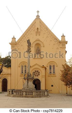 Stock Photographs of St. Stefan Capuchin Church in Brati.