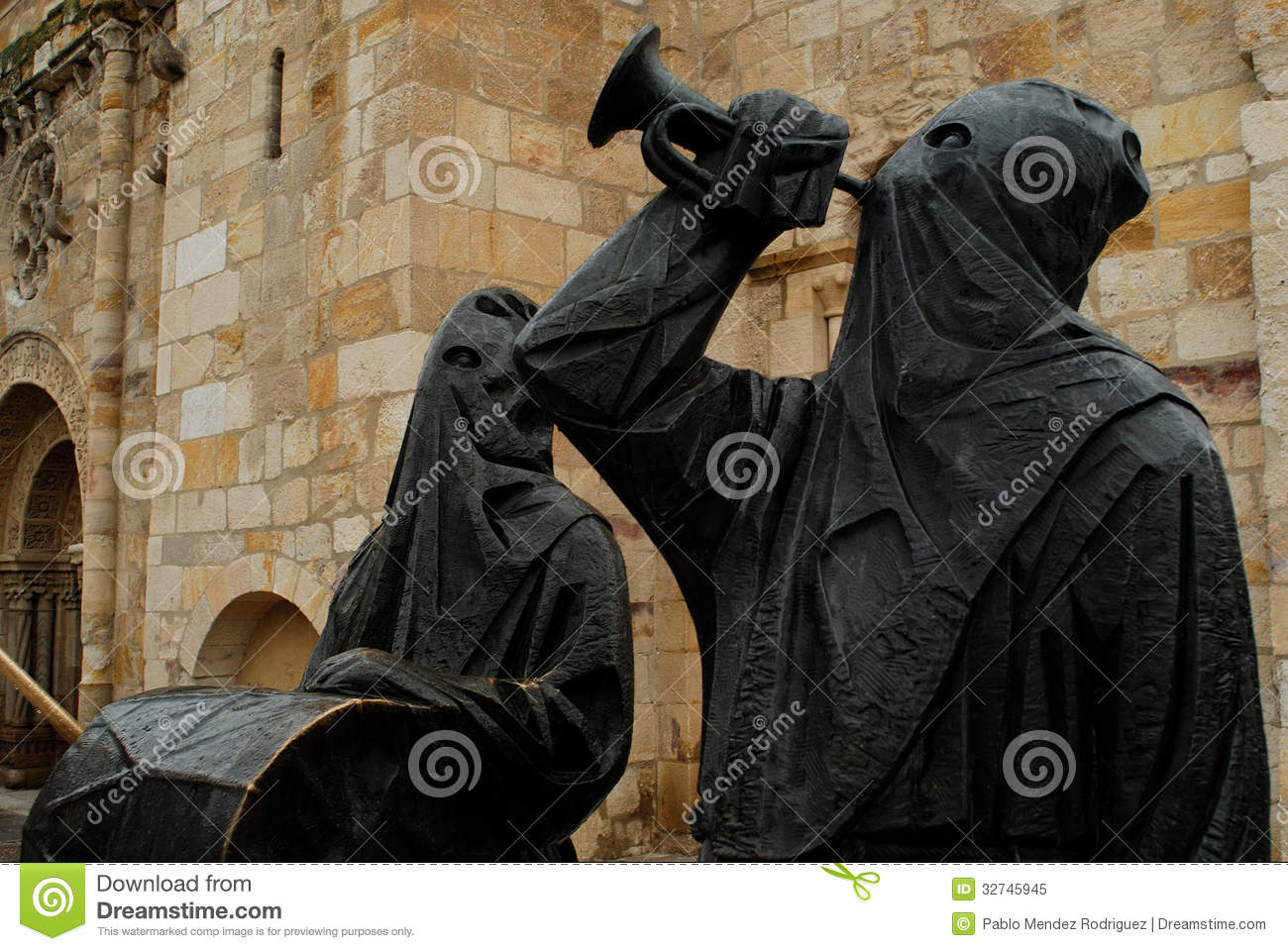 Sculpture Of Capuchin Monks In Palencia, Spain Royalty Free Stock.