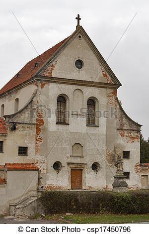 Stock Photographs of Capuchin Monastery in Olesko, Ukraine. Built.