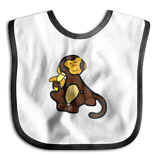 Amazon.com: Monkey Clipart Junior Bib Waterproof Bib For.