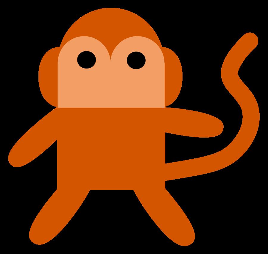 Cheeky Monkey SVG Vector file, vector clip art svg file.