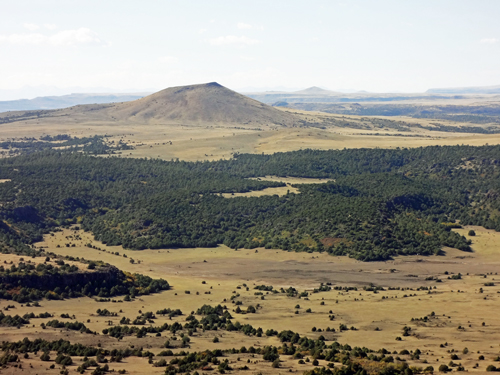 The Two RV Gypsies at Capulin Volcano National Monument in NM.