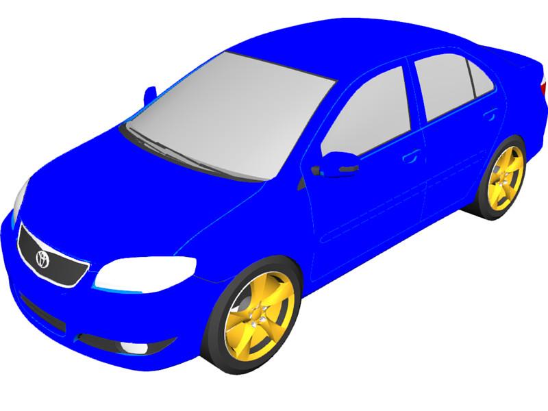 Toyota Vios 3D Model Download.