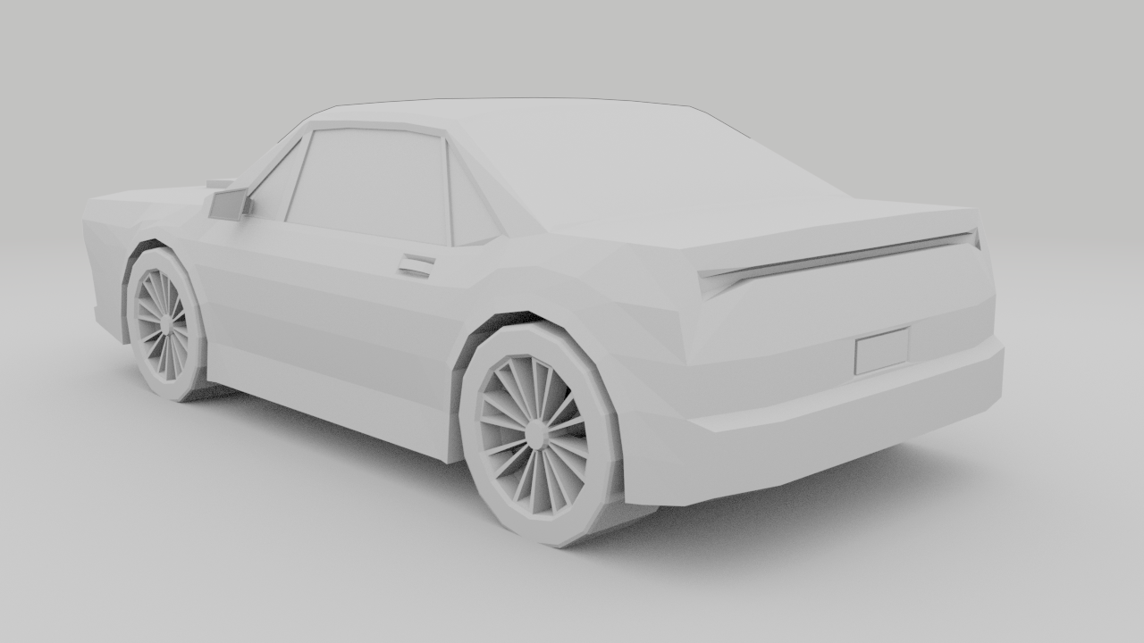 Low Poly Car Free 3D Model in Old Cars 3DExport.
