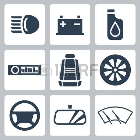 2,445 Car Accessories Stock Vector Illustration And Royalty Free.