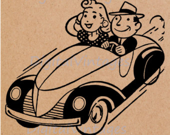 1950s Car Clipart.