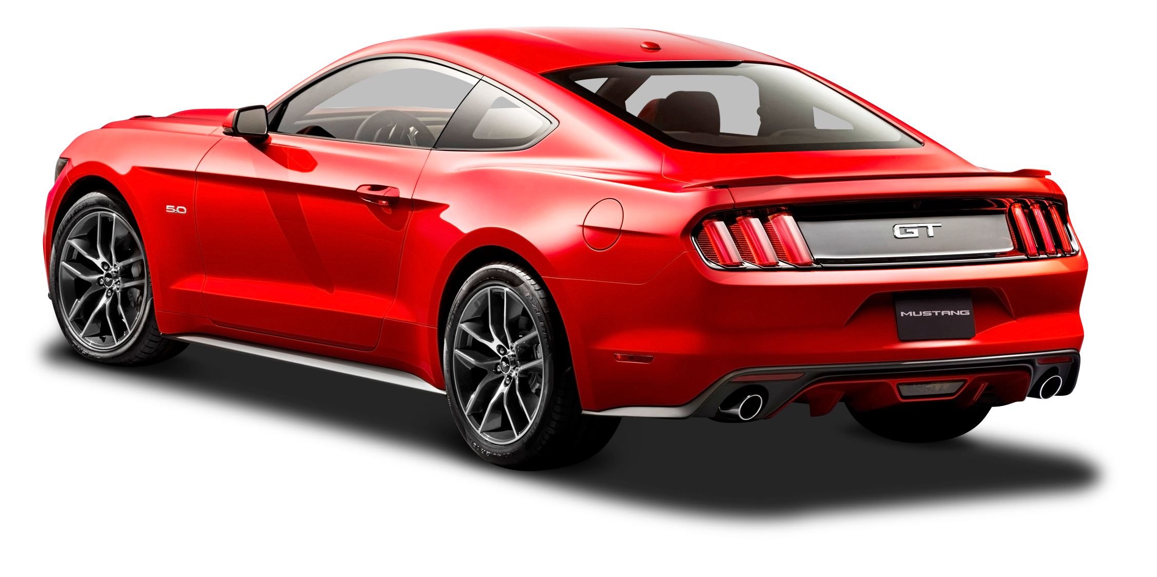 Download Ford Mustang Red Car Back Side PNG Image for Free.