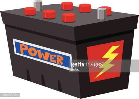 Car Battery Clipart Image.