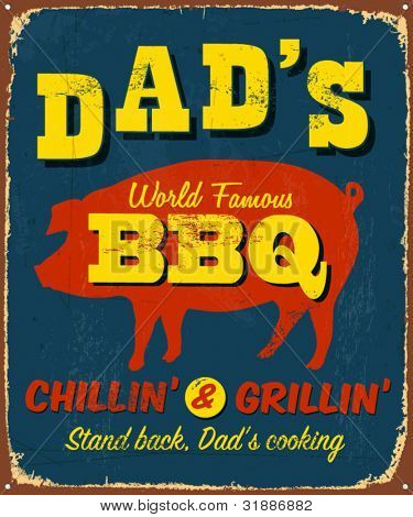Dad's BBQ Sign. Chillin' & Grillin' #DadsRT That was my Dad! Now.