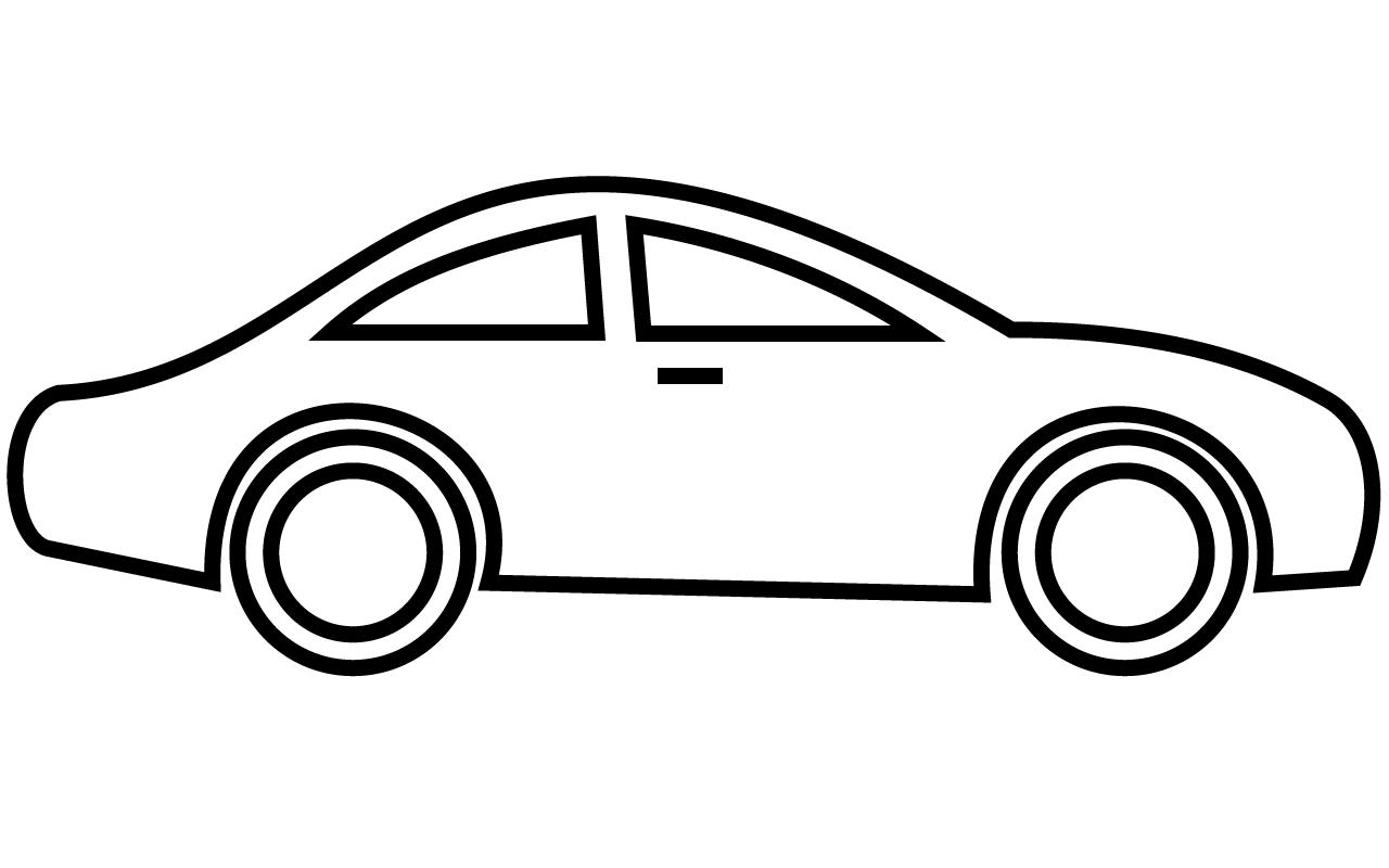 Car Clip Art Black And White.