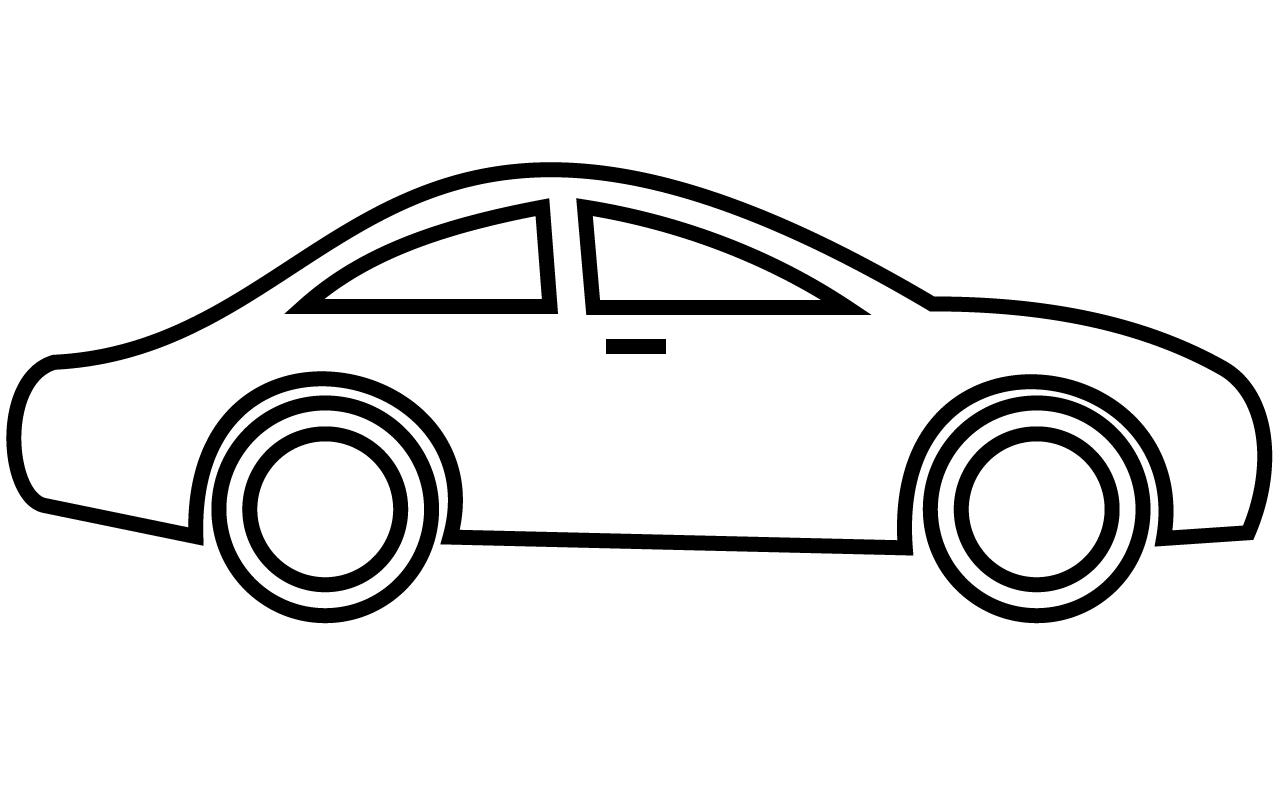 Car Clip Art Black And White.