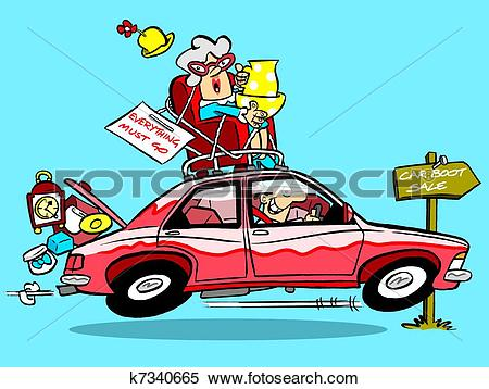 Stock Illustration of Car boot sale k7340665.