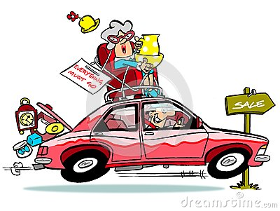 Car boot sale clipart.