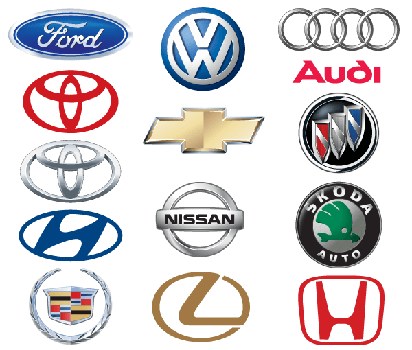 Famous Car Brand Logos Vector.