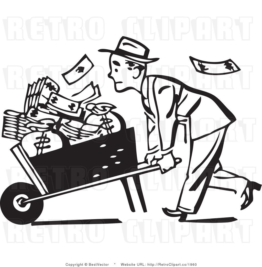 Car Carrying Cash Money Clipart.