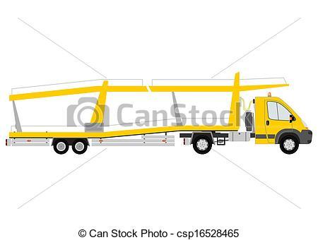 Clip Art Vector of Car transporter.