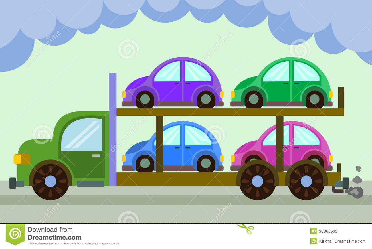 Car Carrier Royalty Free Stock Photo.
