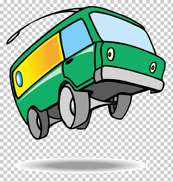 Bus Van Car , Cartoon car PNG clipart.