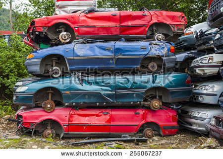 Car Graveyard Stock Photos, Royalty.