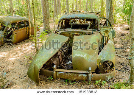 Junk Yard Stock Photos, Royalty.
