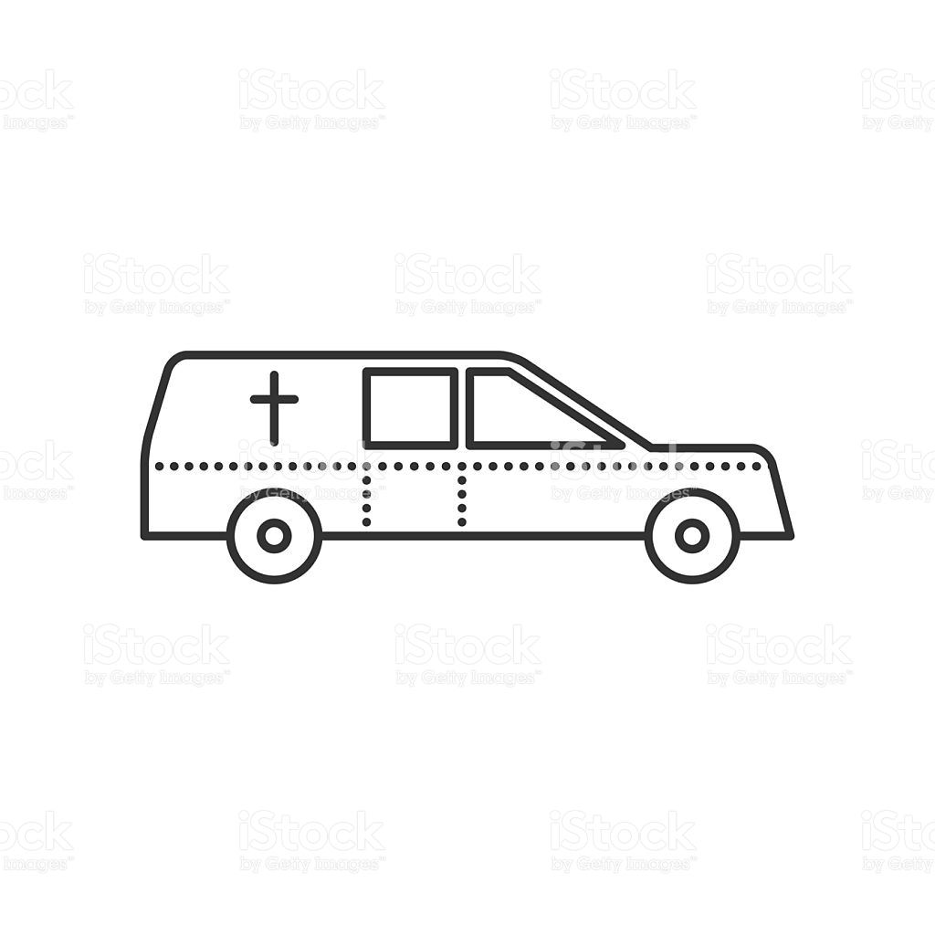 Coffin Transport Hearse Car Flat Icon stock vector art 587551524.