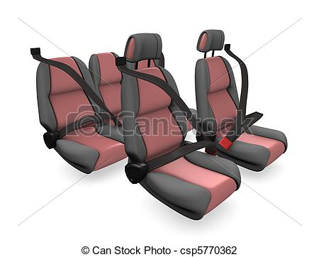 Clip Art of Car seat.