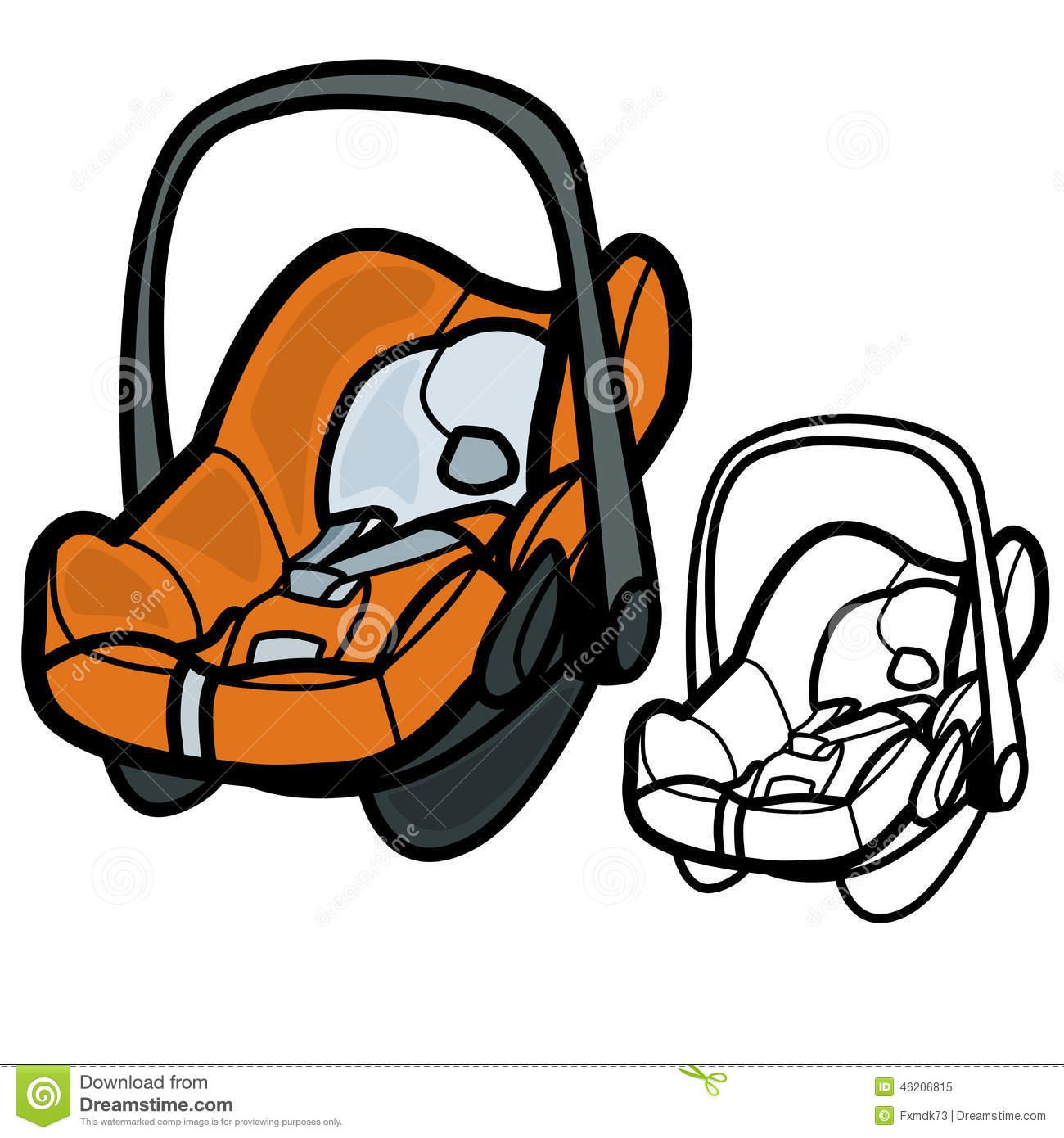 Baby Car Seat Clip Art.