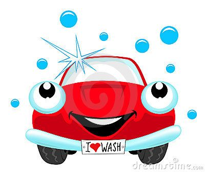 The cartoon red car wash.