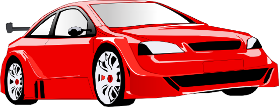 Red Sports Car Clipart.