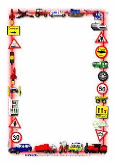 Car clipart + border.