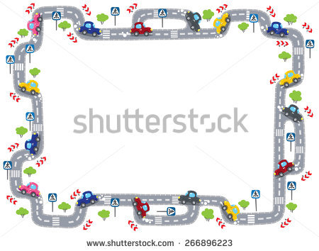 Car Border Stock Images, Royalty.