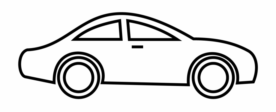 Car Clipart Black And White Png Transparent.