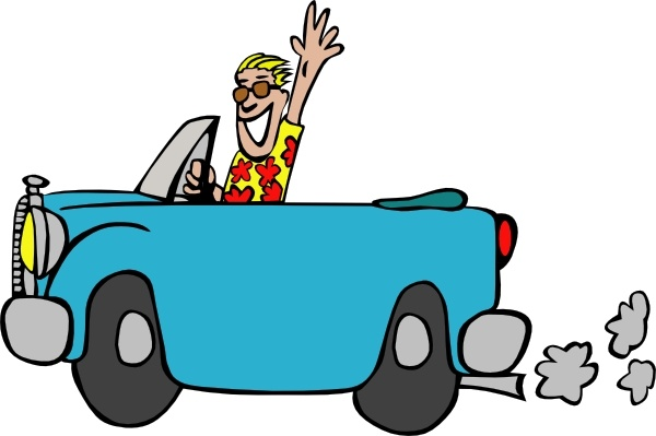 Man Driving Car clip art Free vector in Open office drawing svg.