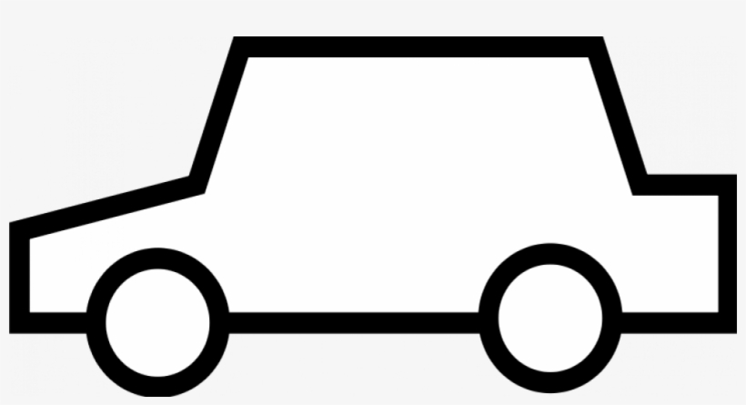 Simple Car Icon Vector Graphics.