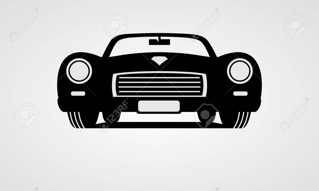 Generic retro car front view.