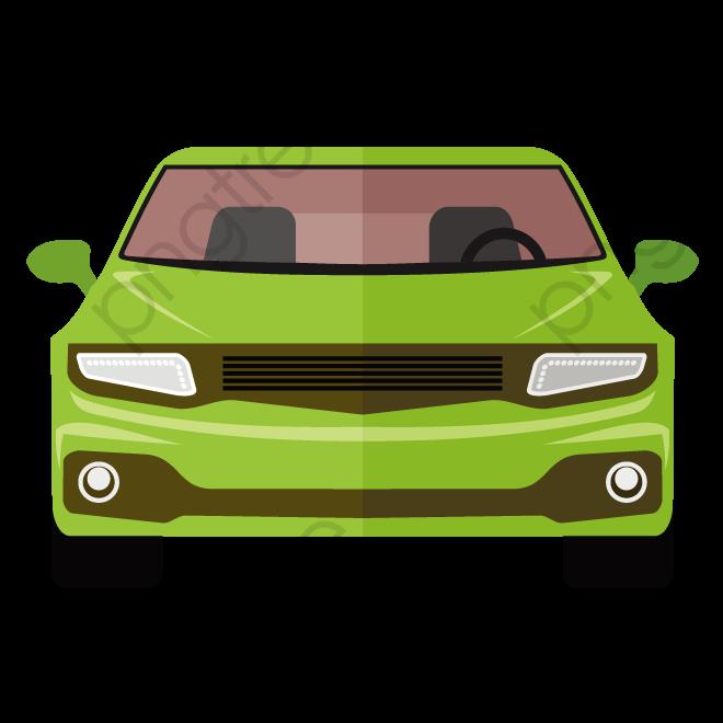 Vector Car, Car Clipart, Green Car, Car Front View PNG and Vector.