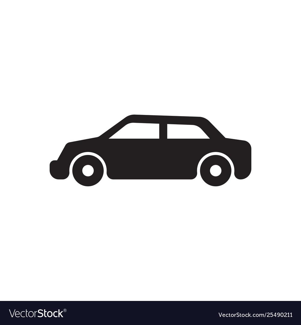 Car monochrome icon black car icon.