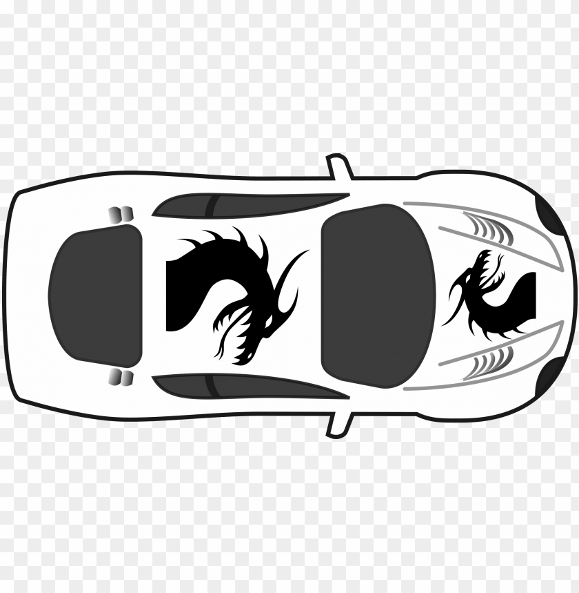 dragon paint job on car top view svg transparent.